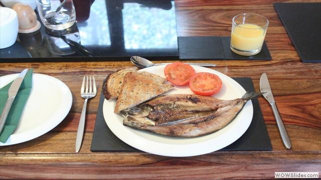 Traditional Scottish Kipper Breakfast